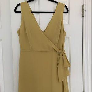 NWT - Mustard Gold Wrap Dress